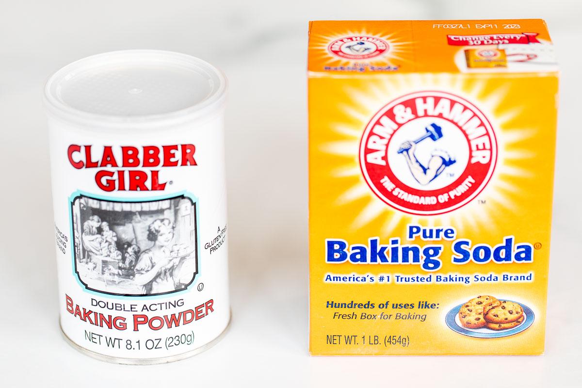 baking powder next to baking soda