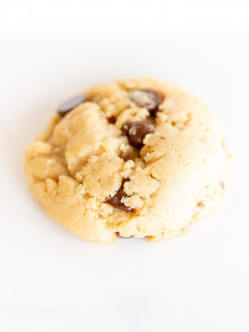 eggless chocolate chip cookie on white surface