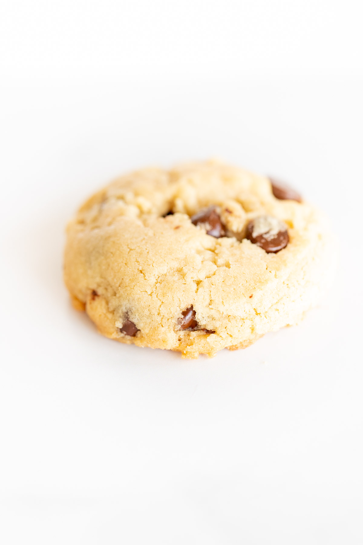 closeup of thick chocolate chip cookie