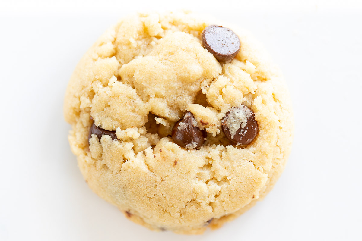 thick eggless chocolate chip cookie