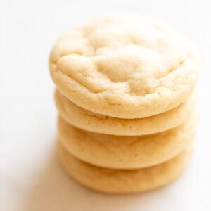 stacked sugar cookies