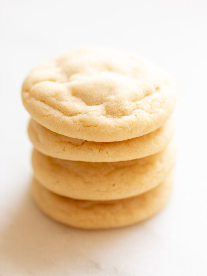 classic sugar cookies stacked