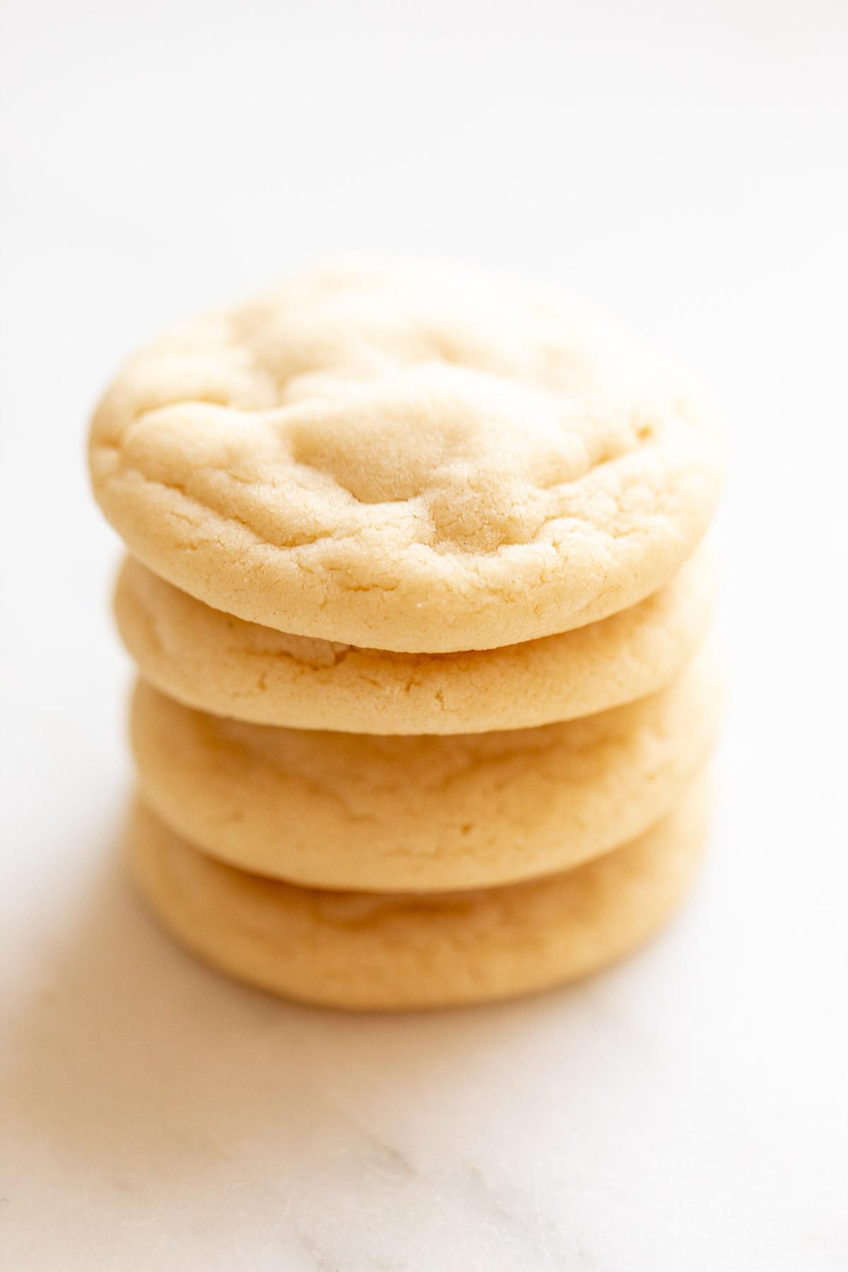 stack of soft sugar cookies