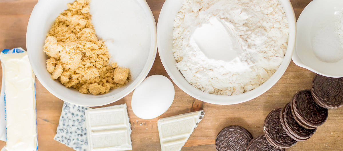 ingredients for cookies and cream cookies