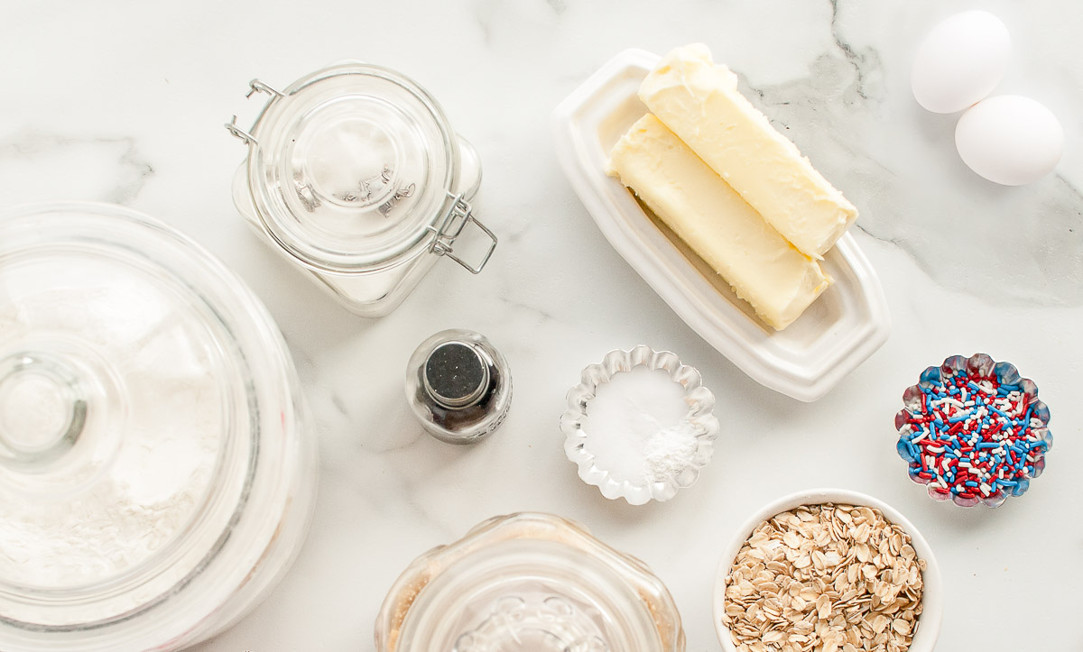 ingredients for oatmeal sandwich cookies