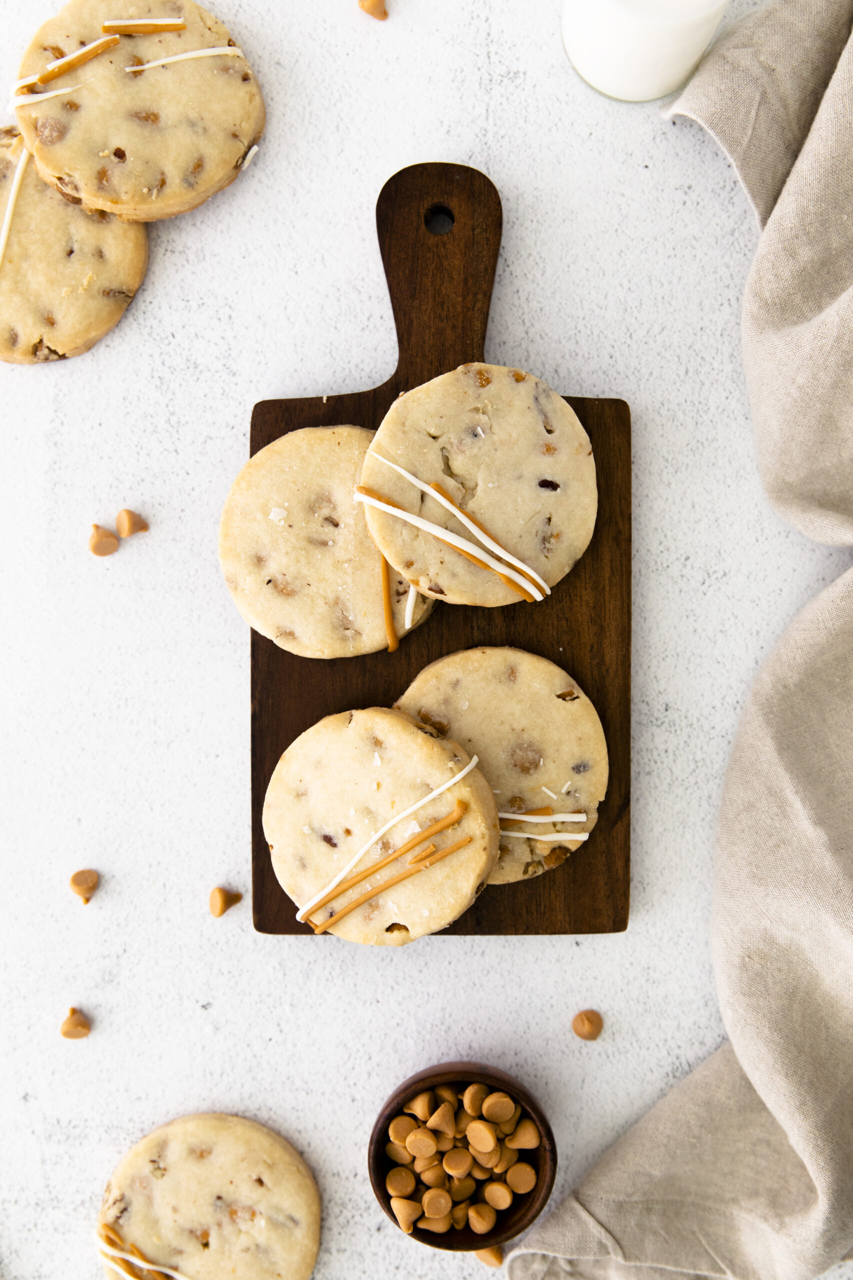 butterscotch cookies on tray