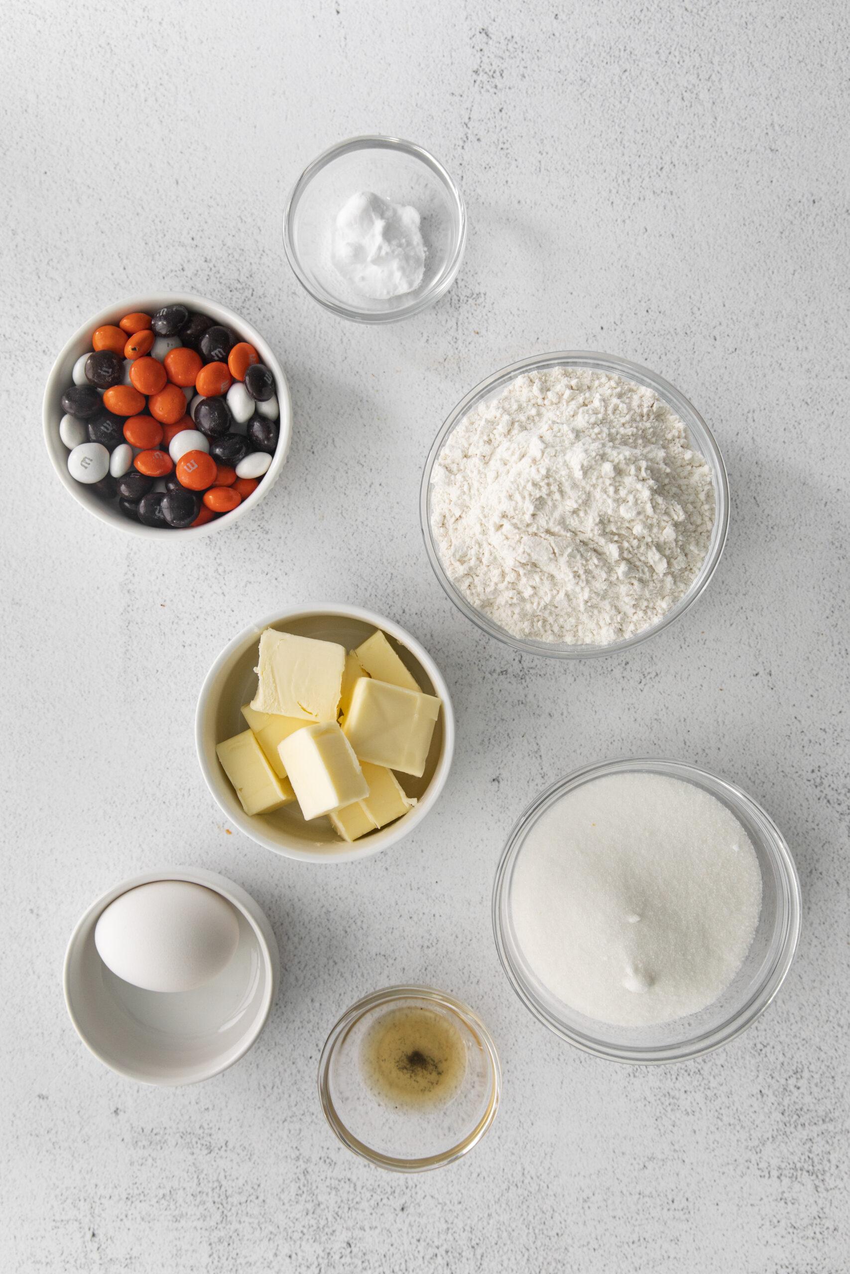 ingredients for halloween cookies