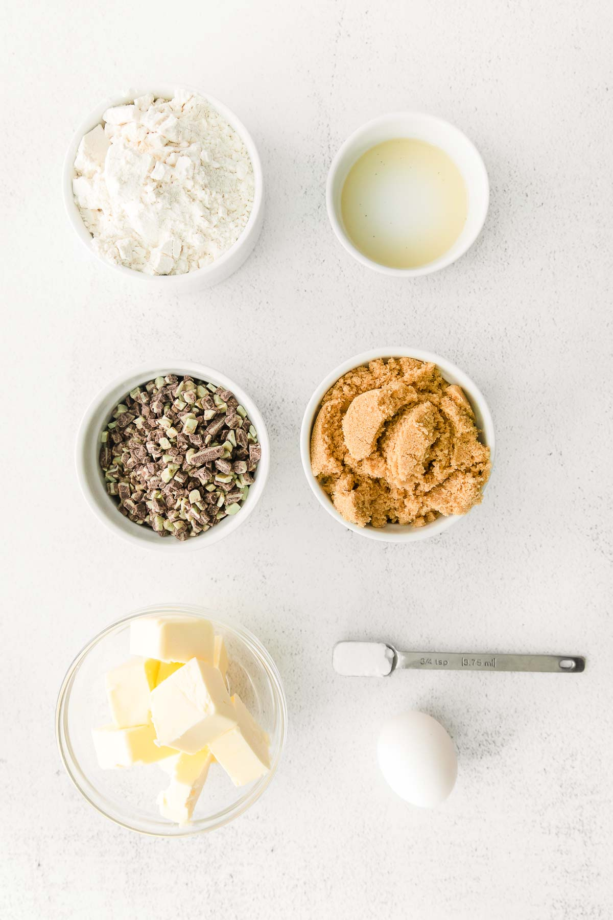 ingredients for andes mint cookies